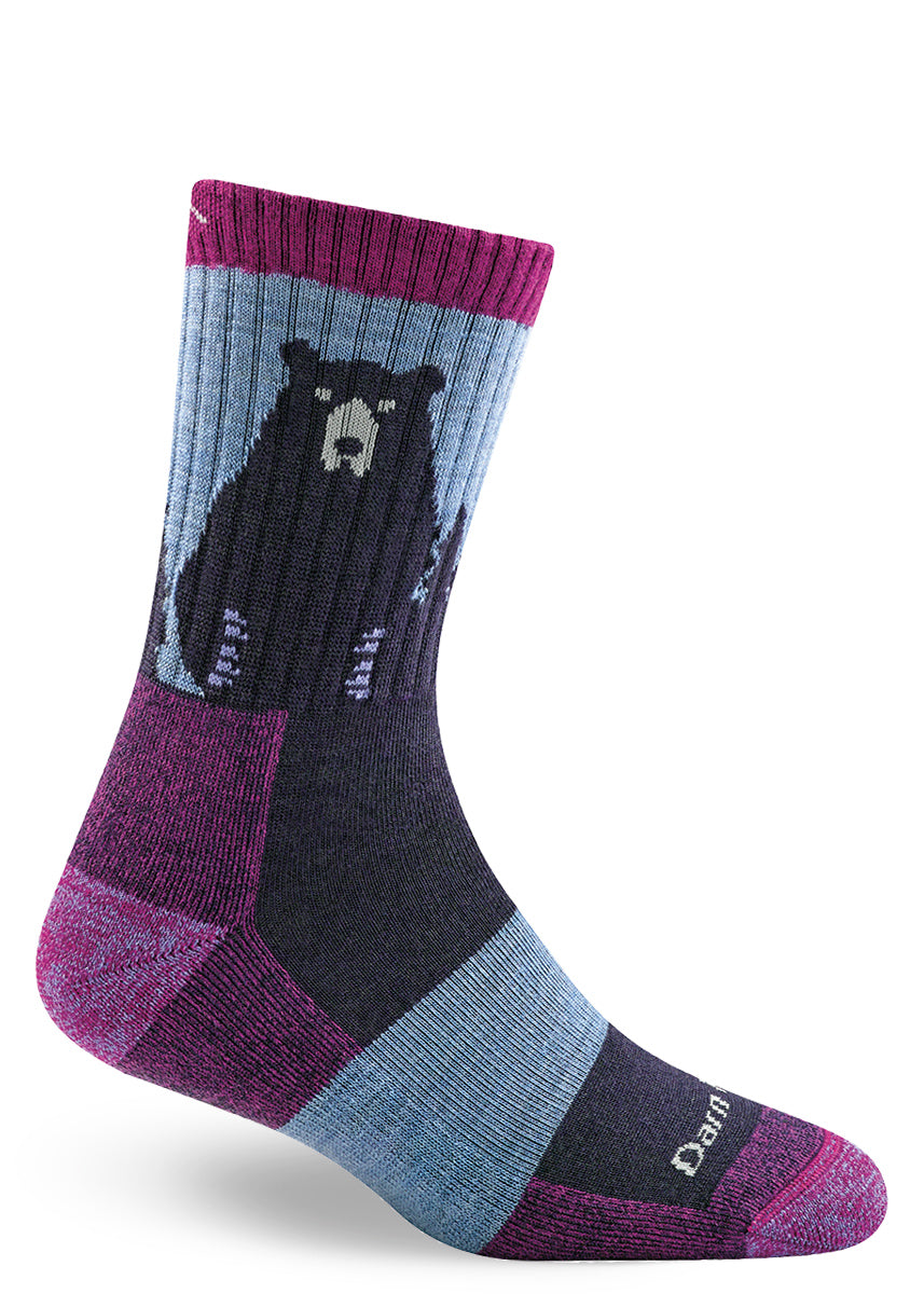 Bear socks for women made for hiking with cushioned feet and arch support