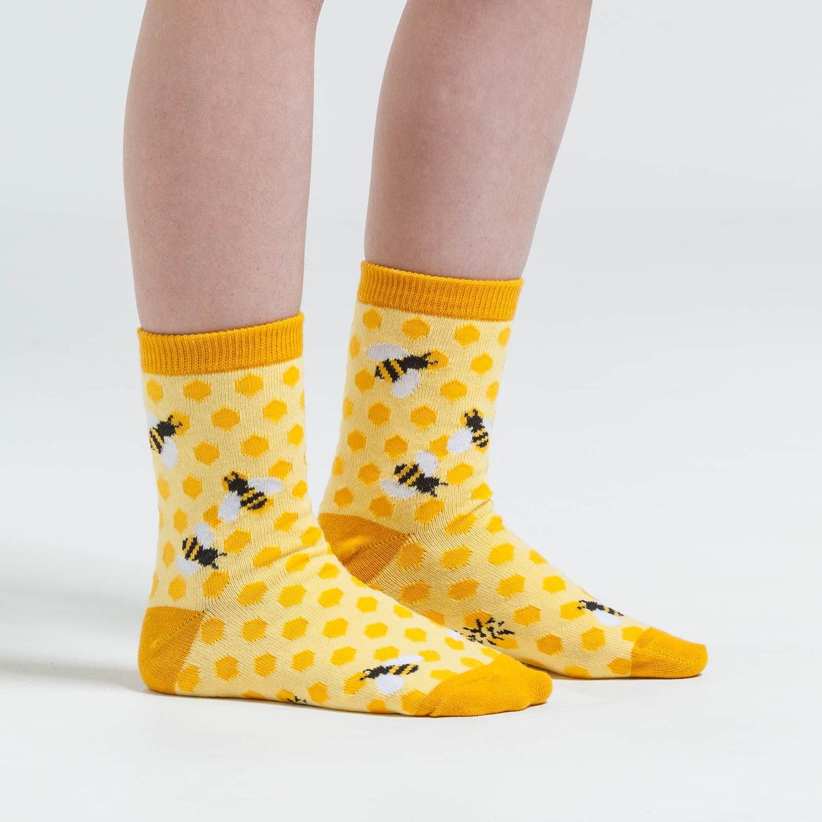 Busy bee socks for kids who are always buzzing