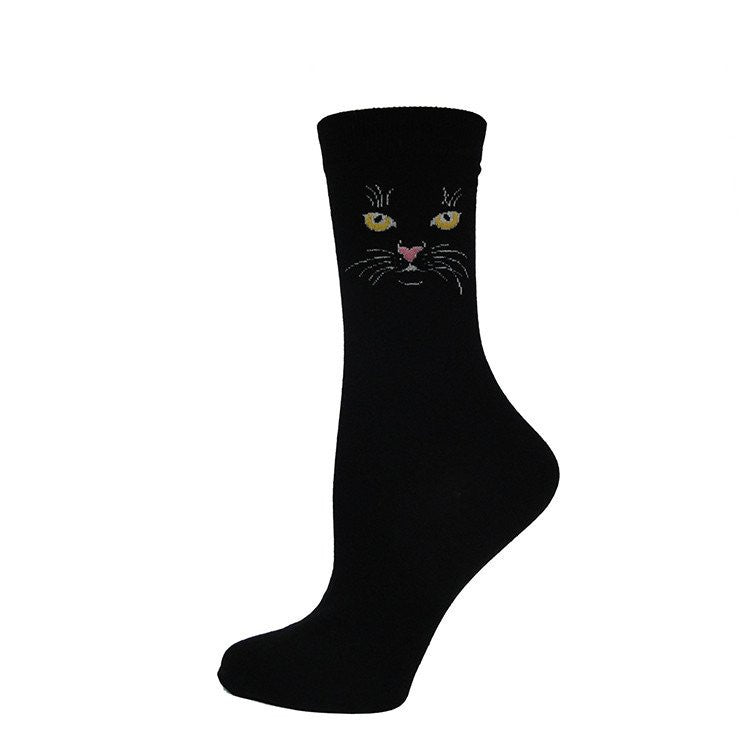 Black cat socks are considered good luck by many sock enthusiasts.