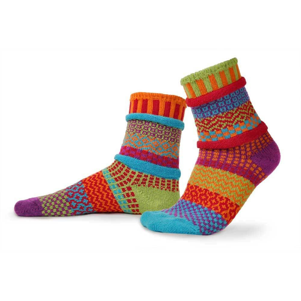 These socks have all of the colors of a beautiful summer garden.