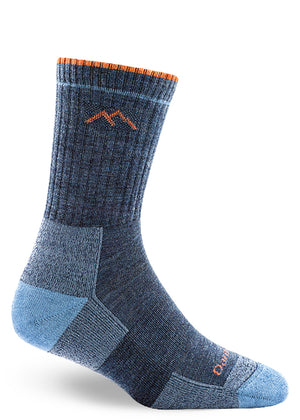 Wool socks for women with a cushioned sole for hiking and a lifetime guarantee.