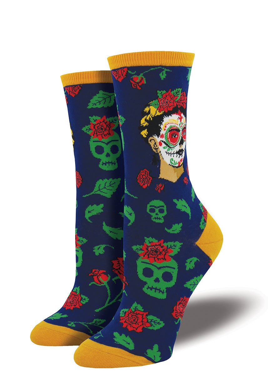 881cd11be60 These festive Frida socks are perfect for your Day of the Dead celebrations.