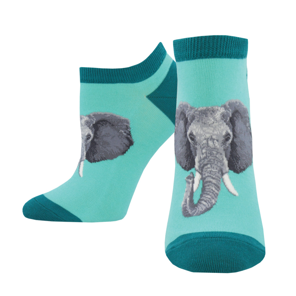 Never forget these ankle socks with elephants on them.