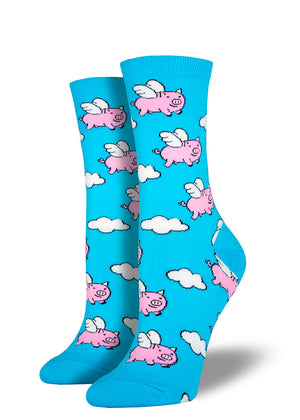 Flying pig socks for women for when pigs fly