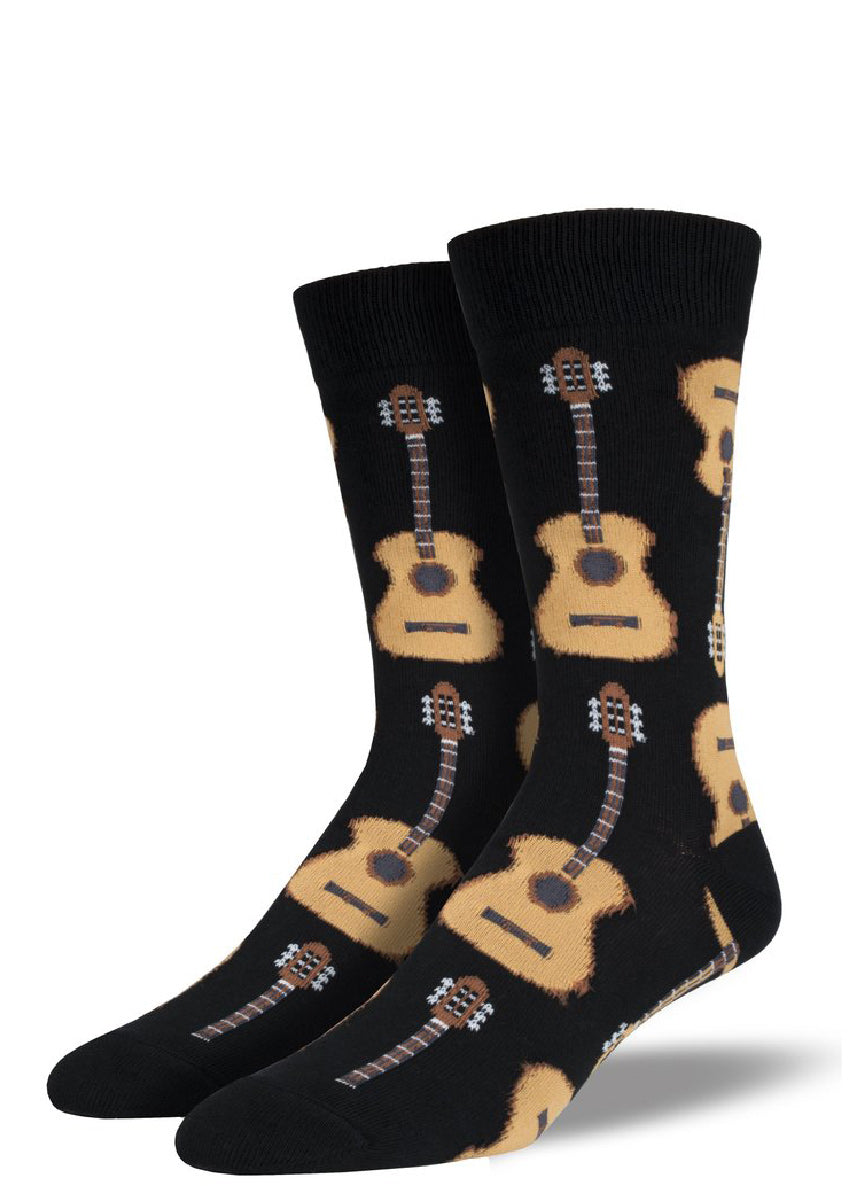 Rock your socks in extra large guitar socks for men with big feet.