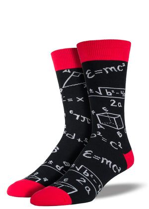 You plus these awesome math themed crew socks equals yes. It just adds up!