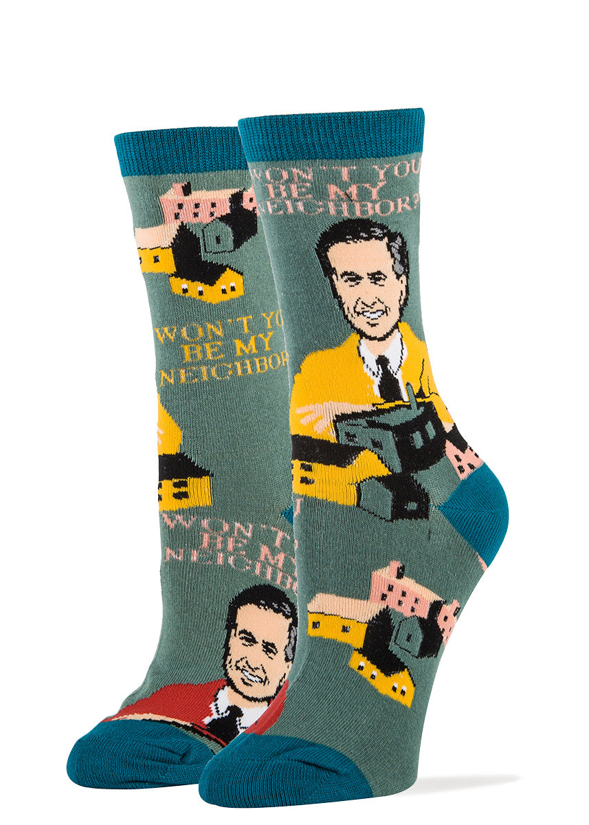 Mister Rogers' Neighborhood socks for women with houses