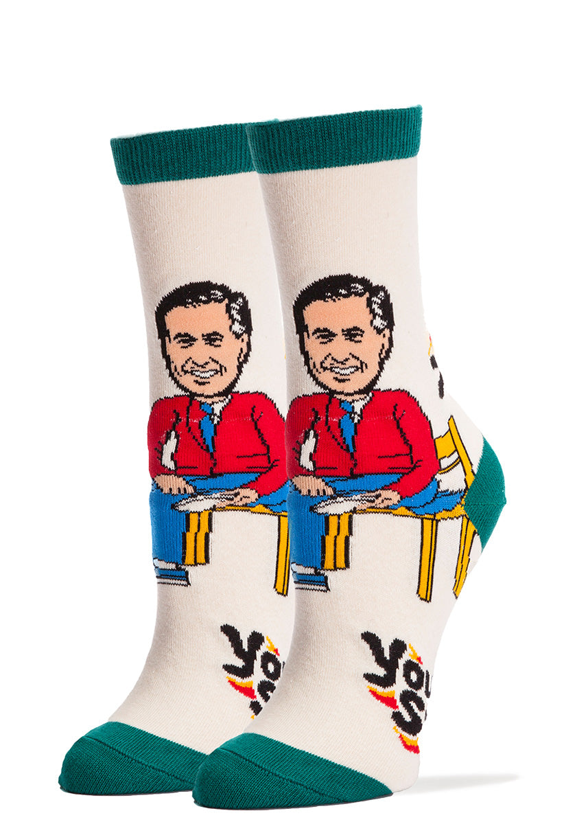 You Are Special socks for women with Mister Rogers