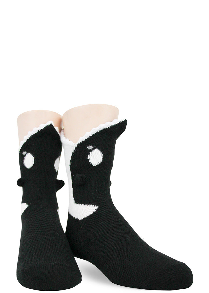 Orca socks eat your kids feet with cottony soft killer whale teeth!