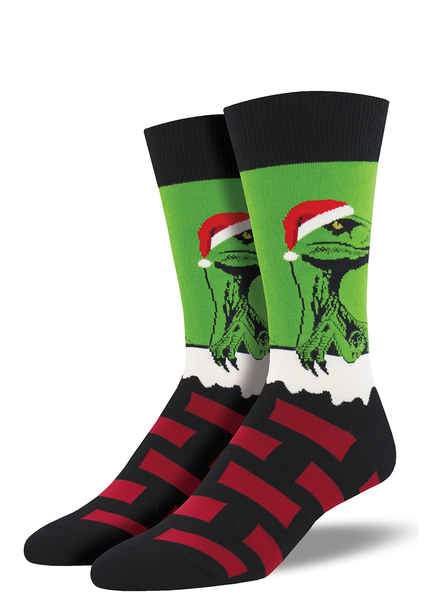 These Christmas socks with Santa dinosaurs are a blast from Christmas past.