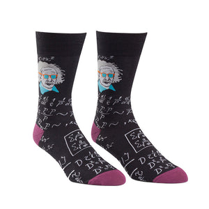 E=MC Cool in these Einstein-approved men's crew socks.