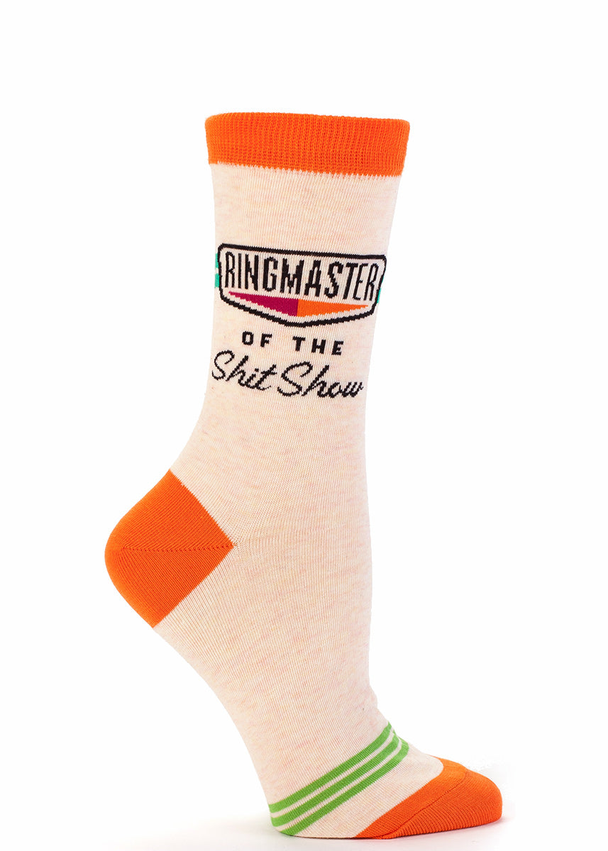 These socks let everyone know that a night with you and your friends is the greatest show on earth.