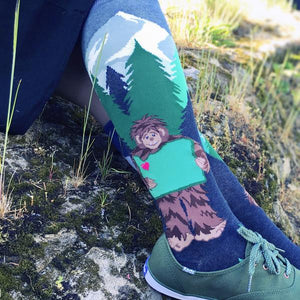 Oregon loves Sasquatch and the feeling is mutual on this Pacific Northwest knee sock by ModSocks.