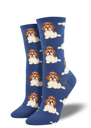 Shih tzu socks for women with shih tzu breed dogs