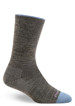 Solid color wool socks for women in Taupe