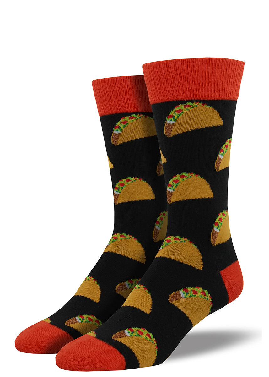 Men's taco socks with crunch tacos full of fillings