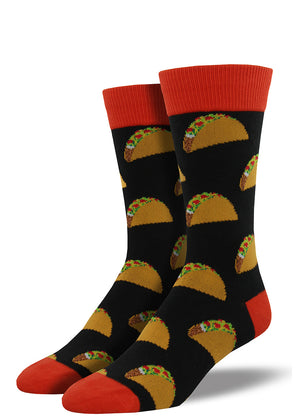 What's tastier than a taco? Two tacos! Please do not eat these socks.