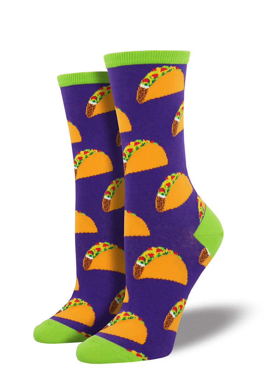 Tasty taco socks for women are the perfect wrapper for your feet