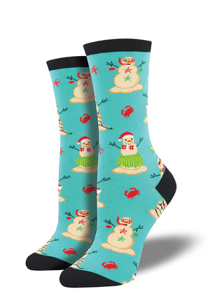 These tropical Christmas socks for women will have you singing Mele Kalikimaka and dreaming of an island holiday.