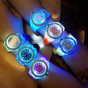 Montre Diamond Led Flash Lumineuse