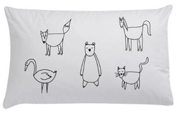 Animals Organic Pillowcase