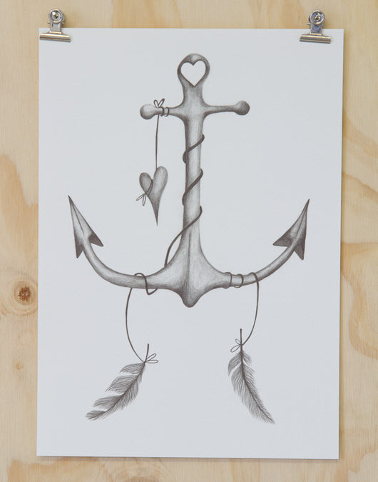 Anchor Print by Haley Ashby
