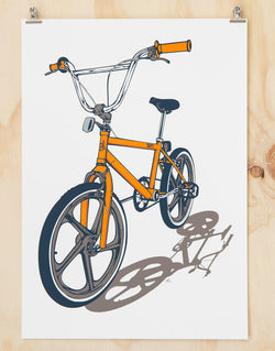 BMX Bike Print By Glenn Smith