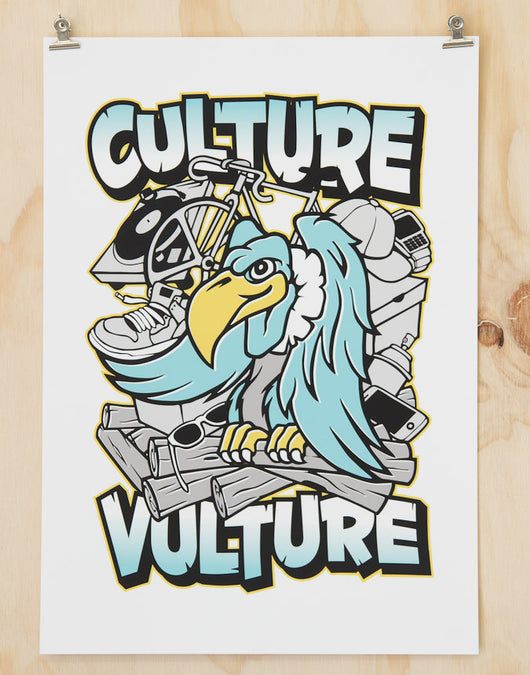 Culture Vulture print by Glenn Smith
