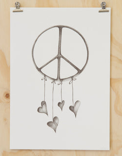 Peace Love print by Haley Ashby
