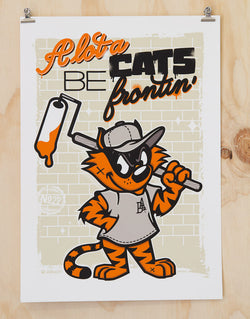 Cats be frontin print by Glenn Smith