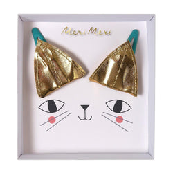 Gold Cat Ear Hair Clips