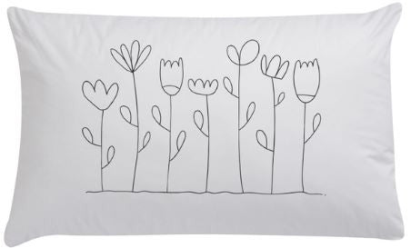 Floral Organic Pillowcase