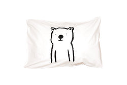 Henry & Co Bear Pillowcase - Black