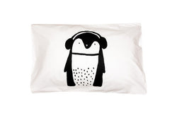 Henry & Co Penguin Pillowcase - black