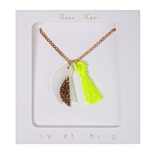 Bird Tassel Necklace
