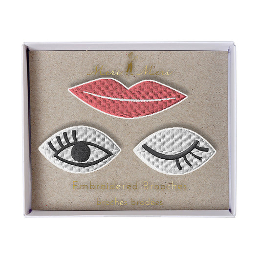 Eyes & Lips Brooches