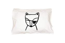 Henry& Co Fox Pillowcase - Black