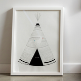 Teepee Print by Laura Shallcrass