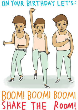 Shake The Room! Greeting Card by Abel and Game