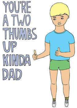 Two Thumbs Up Greeting Card by Abel and Game