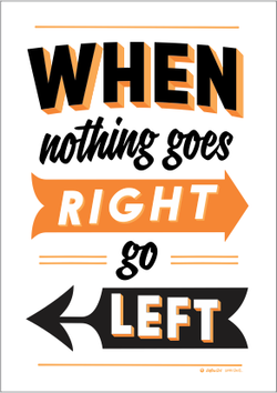 'Right/Left' Print by Glenn Smith (Black)
