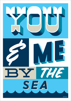 You Me and the Sea Art Print