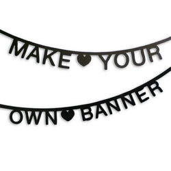 OMM Design Black DIY Word Banner