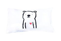 Henry & Co Bear Pillowcase - Red heart