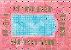 Pink Pool Print By Helo Birdie