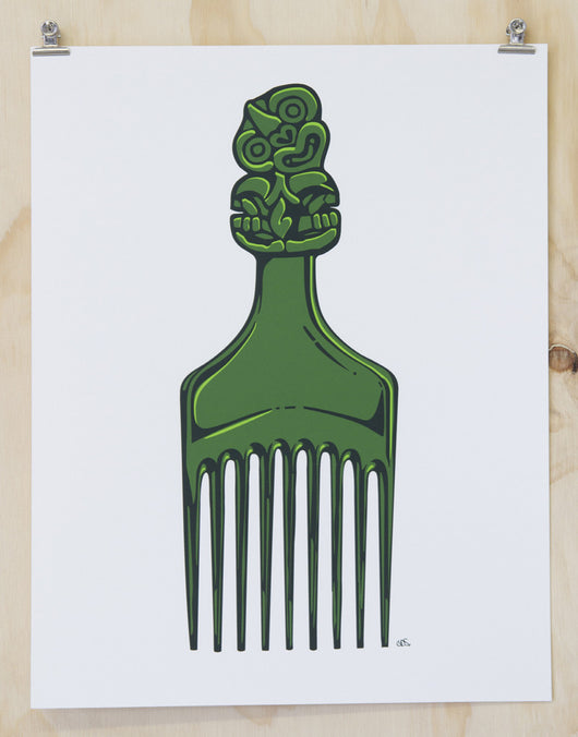 Tiki Comb print By Glenn Smith