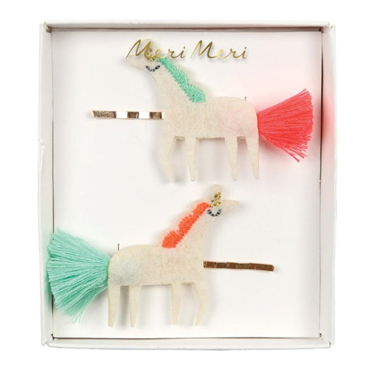 Unicorn With Tail Hair Clips