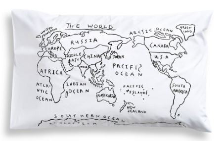 Henry & Co World Map Pillow Case