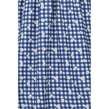 Indlæs billede til gallerivisning Demira Gingham Daisy swing dress blue