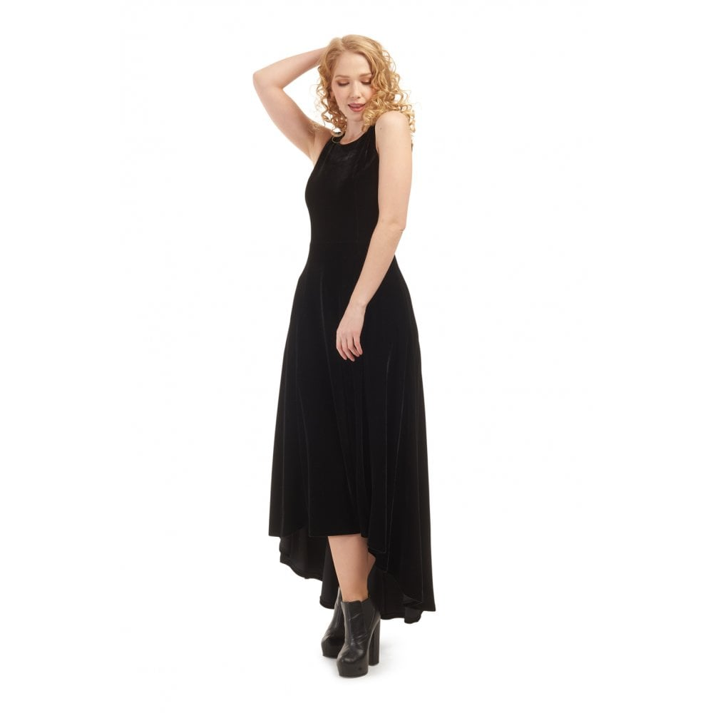 Isabella velvet dress-black